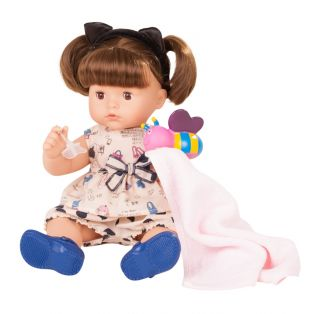 Gotz Maxy Aquini Brunette Baby Bath Doll 9 pieces, 42cm, M