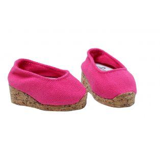 Sophia's Cork Wedge Shoes (Pink)