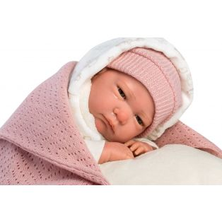 Llorens Reborn Baby Girl Doll in Snuggle Sack 42cm