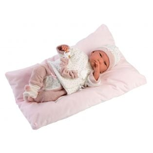 Llorens Reborn Baby Girl Doll in Star Print 42cm