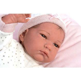 Llorens Reborn Baby Girl Doll in Star Print 42cm