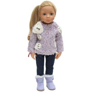 Bear Hug Sweater (Lilac)