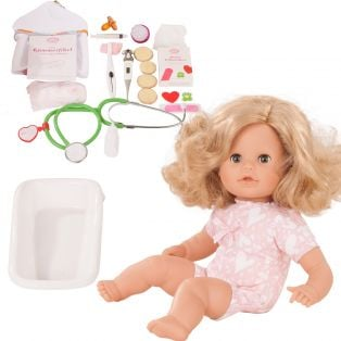 Gotz Cosy Aquini Soft Body Bath Doll Doctor 33cm, S