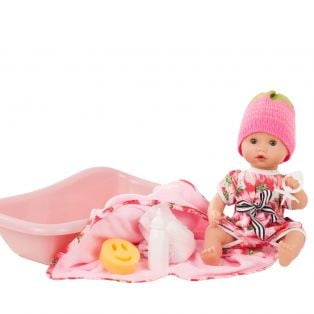 Gotz Sleepy Aquini Doll Strawberry Fields Bath Baby Set, Closing Eyes, S