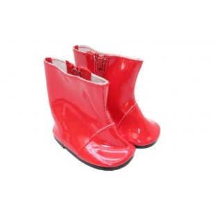 Sophia's Shiny Rain Boots (Red)