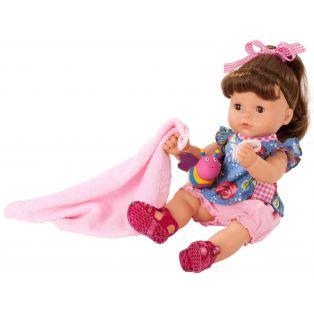 Gotz Maxy Aquini Brunette Baby Bath Doll Roses Garden 9 pieces, 42cm, M
