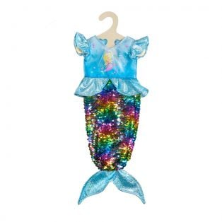 Heless Doll's Mermaid Dress With Reversible Sequins, 28-35cm