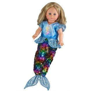 Heless Doll's Mermaid Dress With Reversible Sequins, 35-45cm alternate image