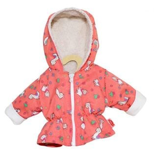 Heless Doll's Anorak With Alpaca Design, 28-35cm
