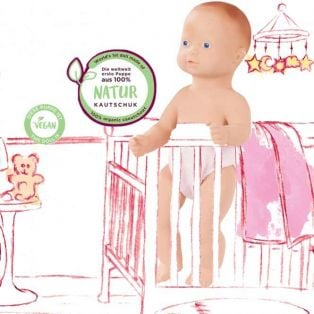Gotz Baby Lina 100% Organic Rubber Doll, 33cm, S