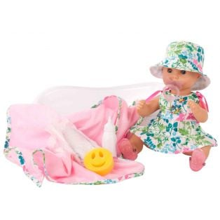 Gotz Sleepy Aquini Doll Blooms Bath Baby Set, Closing Eyes, S