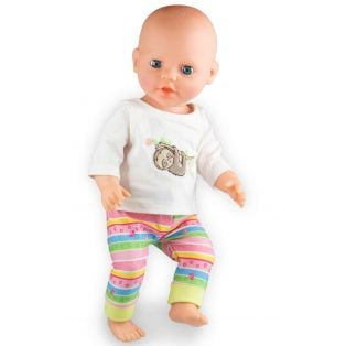 Heless Doll's Pyjamas Fluffy Sloth Design, 35-45cm alternate image