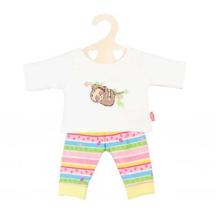 Heless Doll's Pyjamas Fluffy Sloth Design, 35-45cm