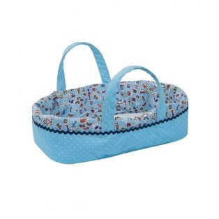 Ciao Bimba Baby Doll Crib  (Moses, Cradle, Bed, Carry Cot) In Blue, 30cm alternate image