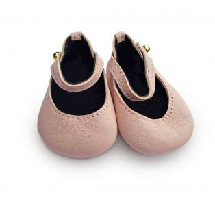 Boneka 65mm Mary Jane Leather Shoes For Wichtel Dolls height 30cm, 32cm, 35cm (Pale Pink)