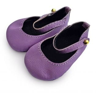 Boneka 65mm Mary Jane Leather Shoes For Wichtel Dolls height 30cm, 32cm, 35cm (Purple)