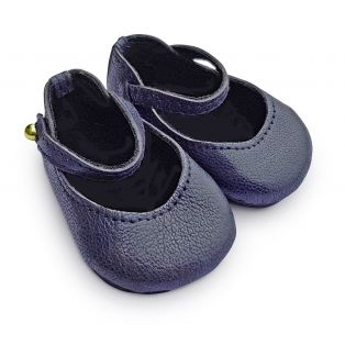 Boneka 65mm Mary Jane Leather Shoes For Wichtel Dolls height 30cm, 32cm, 35cm (Navy Blue)