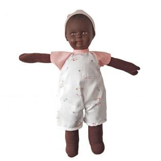 Schildkrot Schmuserle Fabric and Brown Vinyl Baby Doll Brown Eyes 28cm alternate image