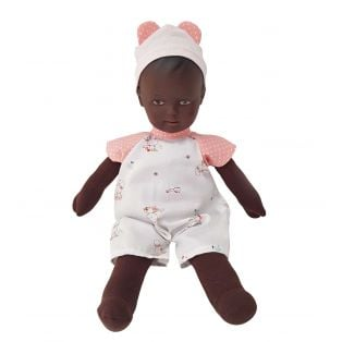 Schildkrot Schmuserle Fabric and Brown Vinyl Baby Doll Brown Eyes 28cm