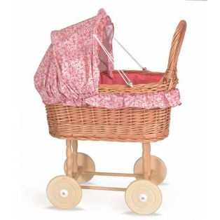 Egmont Toys Julia Wicker Pram & Bedding