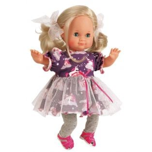 Schildkrot Schlummerle Sleepy Eye Unicorn Baby Girl Doll Blonde Hair 32cm