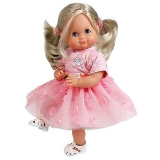 Schildkrot Schlummerle Sleepy Eye Party Baby Girl Doll Blonde Hair 32cm