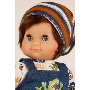 Schildkrot Schlummerle Sleepy Eye Baby Boy Doll Brown Hair 32cm  alternate image