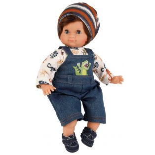 Schildkrot Schlummerle Sleepy Eye Baby Boy Doll Brown Hair 32cm