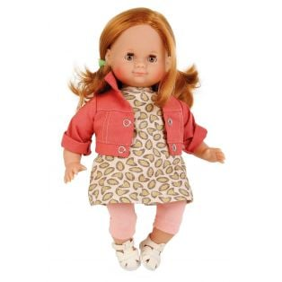 Schildkrot Schlummerle Sleepy Eye Red Hair Baby Girl Doll Brown Eyes 32cm