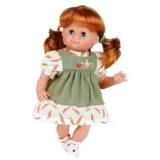 Schildkrot Schlummerle Sleepy Eye Red Hair Baby Girl Doll Blue Eyes 32cm