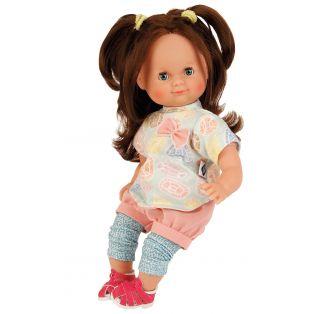 Schildkrot Schlummerle Bows With Brown Hair Baby Doll 32cm