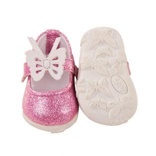 Gotz Pink Glitter Butterfly Shoes M, XL