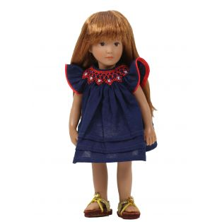 Boneka Round Smock Navy Mini Dress 18-21cm/7-8