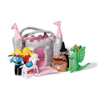 Oskar & Ellen Castle Pink Turret Play Set 7 Pieces