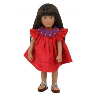 Boneka Round Smock Red Mini Dress 18-21cm/7-8