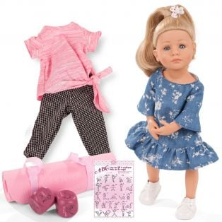Gotz Little Kidz Doll Lotta Yoga With Freckles XM, 36cm