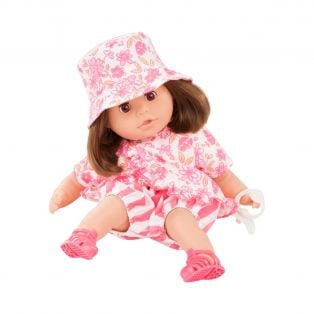 Gotz Cosy Aquini Soft Body Bath Doll Stripe Vibes 33cm, S