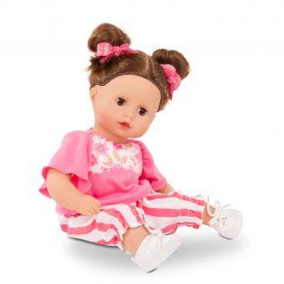 Gotz Little Muffin Baby Doll Stripe Vibes, Brunette, 33cm, S