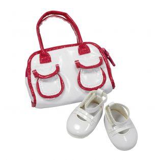 Gotz White Bowling Bag & Shoes, XL