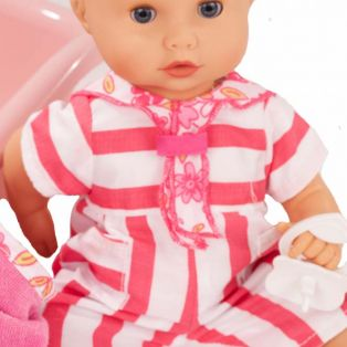 Gotz Little Sleepy Aquini Bath Doll Stripe Vibes Set, S