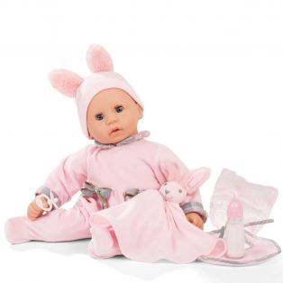 Gotz Cookie Care Baby Doll Bunny Design With Functions, L