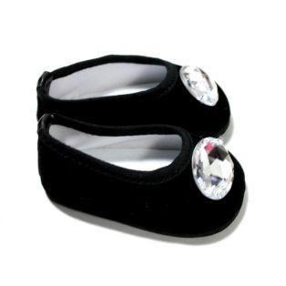 Sophia's Gem Shoes (Black Velvet)