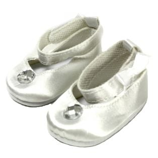 White Satin Party/Bridal Shoes