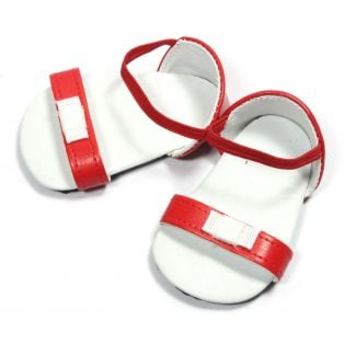 Bow Sandals (Red) 45-50cm