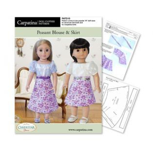 Doll Sewing Pattern: Peasant Blouse & Skirt - Download