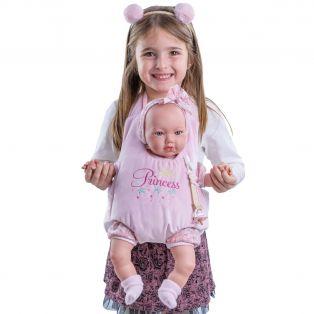 Marina & Pau Baby Doll In Carrier 43cm
