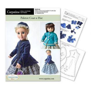 Doll Sewing Pattern: Paletot Coat & Hat - Download