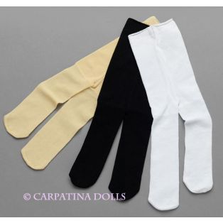 Carpatina Doll Tights - Set of 3 (Black, Nude, White)