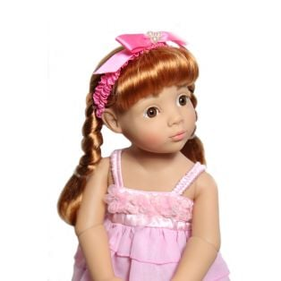 My Doll Best Friend Pink With Pearls Doll Hairband 38-50cm