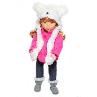 Sophia's Furry Polar Bear Hat 45-50cm